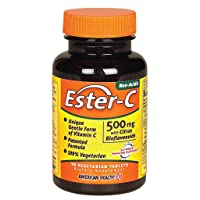 American Health Ester-C with Citrus Bioflavonoids Vegetarian Tablets - 24-Hour Immune...
