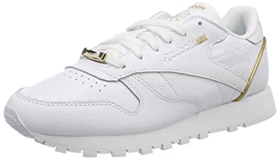 85210ee738f4f7 Reebok Damen Classic Leather Hardware Gymnastikschuhe  Amazon.de ...