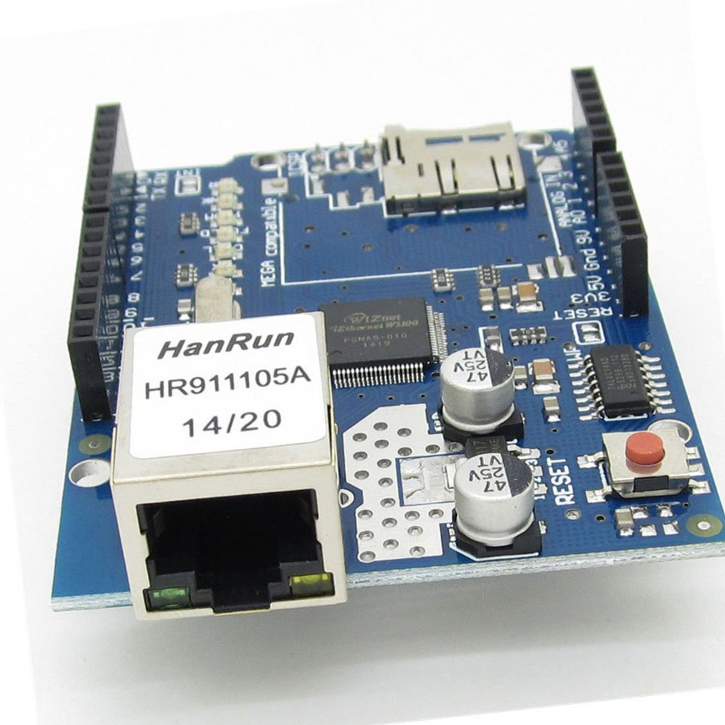 Ethernet W5100 Web Server SD Card Network Shield Expansion Board Module for Arduino by NewZoll (Image #1)