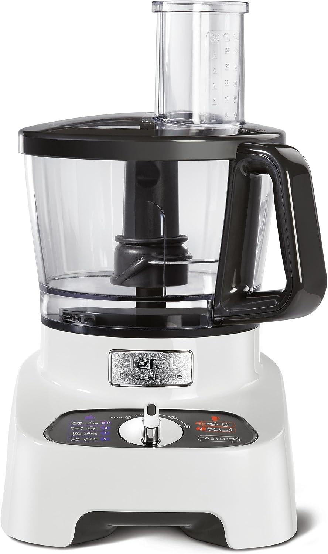 Tefal DoubleForce Pro DO8221 1000W 3L Gris, Color blanco - Robot de cocina (3 L, Gris, Blanco, Botones, Giratorio, 2 L, De plástico, Acero inoxidable): Amazon.es: Hogar