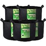 VIVOSUN 300G 生长袋 5-Pack 10 Gallons 黑色 311001