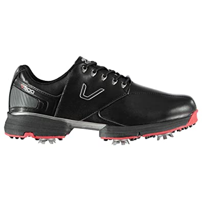 729119faea4 Slazenger Mens V300 Golf Shoes Spiked Lace Up Spikes Black UK 6 (39)