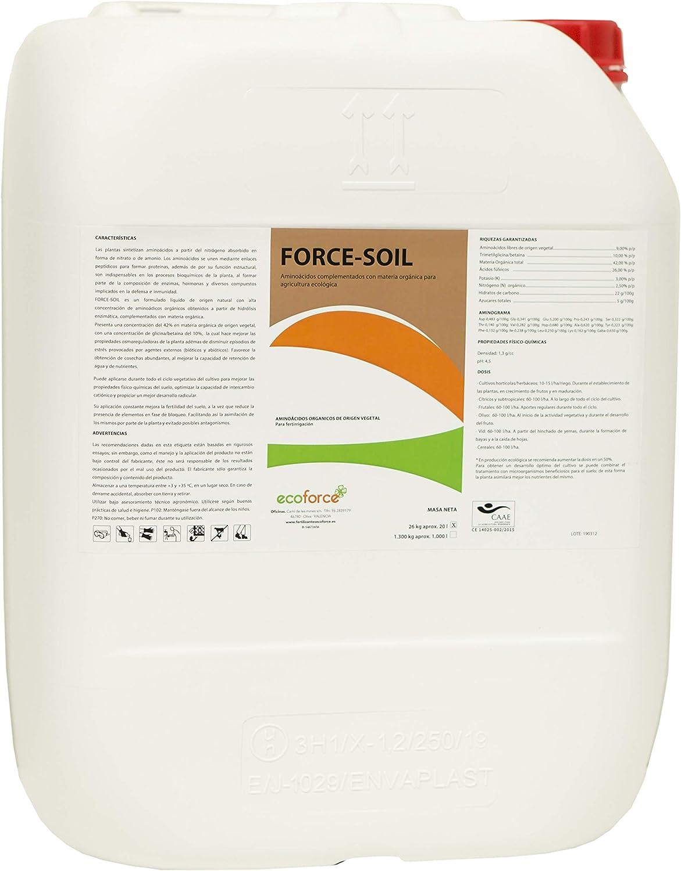 CULTIVERS Force Soil de 20 l. Abono Líquido con Aminoácidos. Super concentrado. De alta asimilación. Ecológico Vegano. ¡¡Precio Directo de fábrica!!