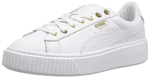 5d43338856982c Puma Women s Basket Platform Pearlized WN s Fashion Sneaker  Amazon ...