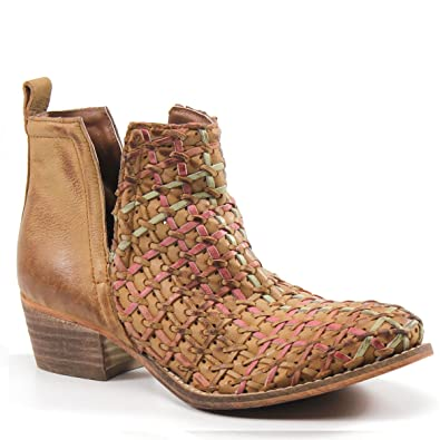 Amazon.com | Diba True Struck Gold Leather ankle boot (6, Tan/Multi) |  Ankle & Bootie