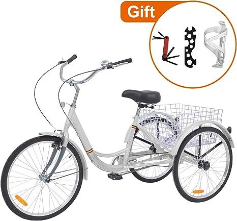 Barbella Bicicleta de Tres Ruedas 26 Pulgadas para Adultos con ...