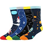 Happypop Novelty Cool Crazy Funny Dress Socks,Colorful Cotton Crew Socks, Gifts for Men
