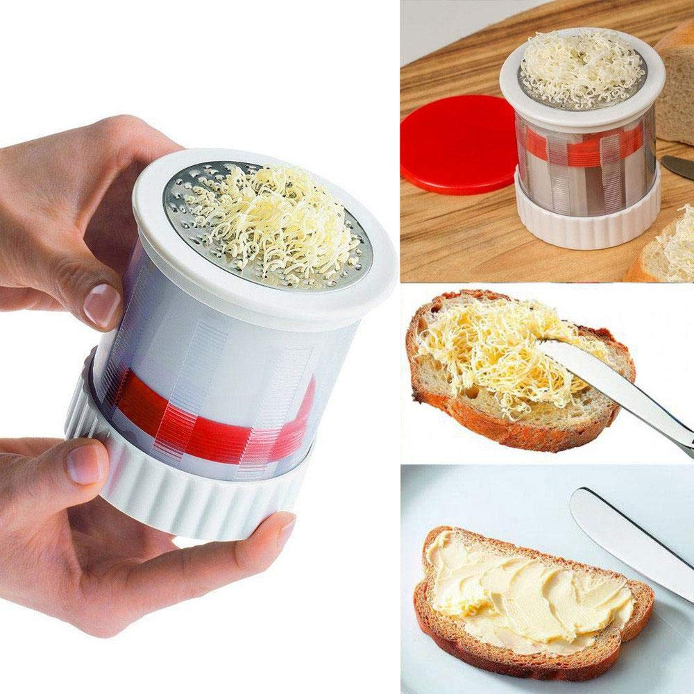 Butter Mill Grater, LEEGOAL Handheld Cheese Butter Grater Baking Tools for Children Feeding for Vegetables, Chocolate, Bread, Corn