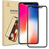 iPhone X Pellicola Protettiva, Pomelo Best [3D Full Tempered Glass Coverage] Vetro Temperato Screen Protector per Apple iPhone X 0,3mm Copertura completa, 9H Durezza, 3D Touch Compatible - Nero