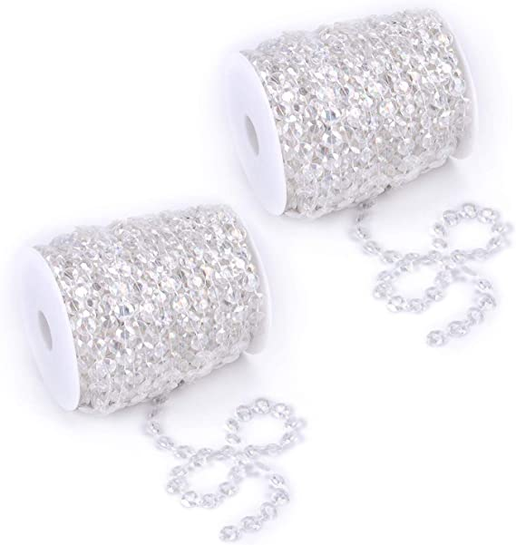 Table Decoration DIY Art /& Craft Bridal Bouquet Party Decor Naler 32 Feet 6mm Ball Bead Chains Christmas Tree Beads Strands for Christmas Decoration and Jewelry Making Gold