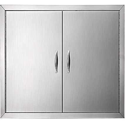 Mophorn Double Wall BBQ Access Door Cutout 31 Width x 24 Height Inches BBQ  Island Door Brushed Stainless Steel Perfect for Outdoor Kitchen or BBQ ...