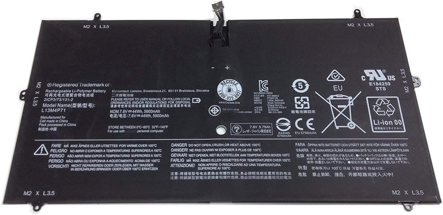 TanDirect New L13M4P71 44Wh 5900mAh Replacement Battery Compatible with Lenovo Yoga 3 Pro 1370