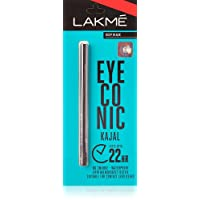 Lakme Eyeconic Kajal, Deep Black, 0.35 g (pack of 5)