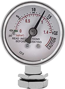 Buffalo QCP435 37-Quart Stainless Steel Pressure Cooker Pressure Guage Steam Gauge