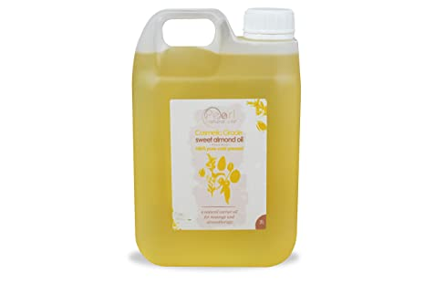 2 liter Aceite de almendras cosmético prensado en frío 100 % puro