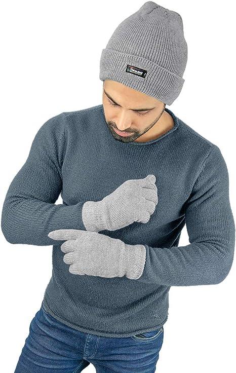 Handschuhe Wintermütze Thinsulate Set Strickmütze Strickhandschuhe Damen Herren