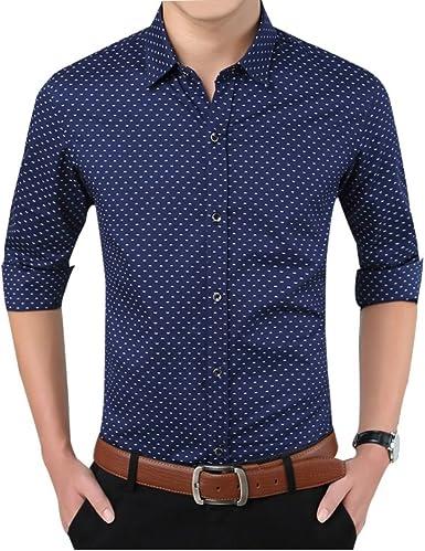 Formal Outfits - Camisa Casual - para Hombre Azul Azul Marino XX-Large: Amazon.es: Ropa y accesorios