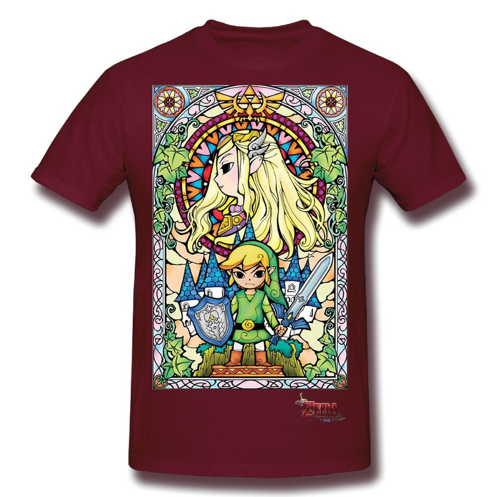 Legend of Zelda The Wind Waker Stained Glass Adult T-Shirt
