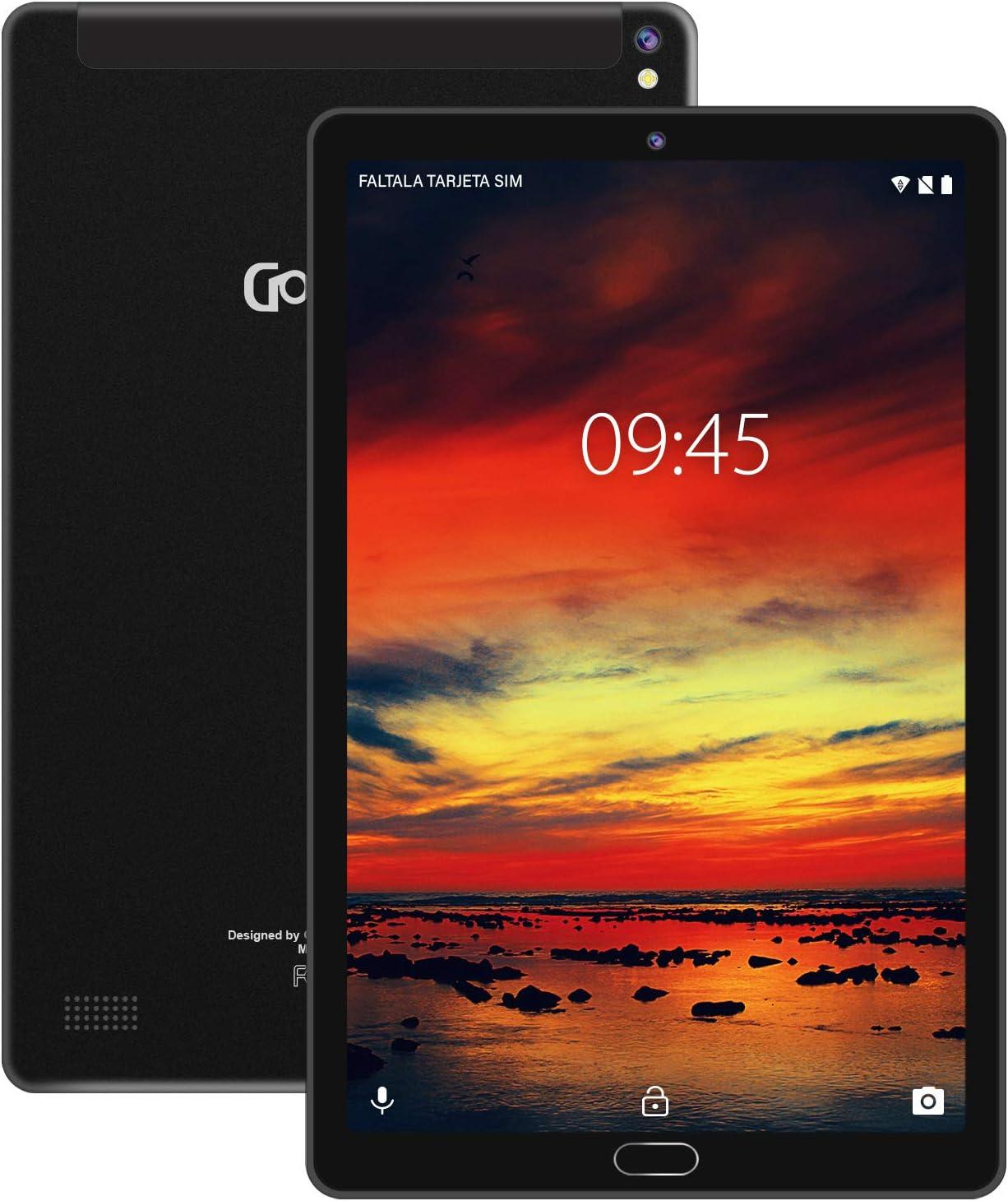 Tablet 10 Pulgadas Tablet Full HD Phablet con Ranuras para Tarjetas SIM Dobles Procesador de Cuatro Núcleos, 3G + 32GB, Doble Cámara Dobles SIM Tablet,WI-FI,GPS,Bluetooth Type-C Tablets