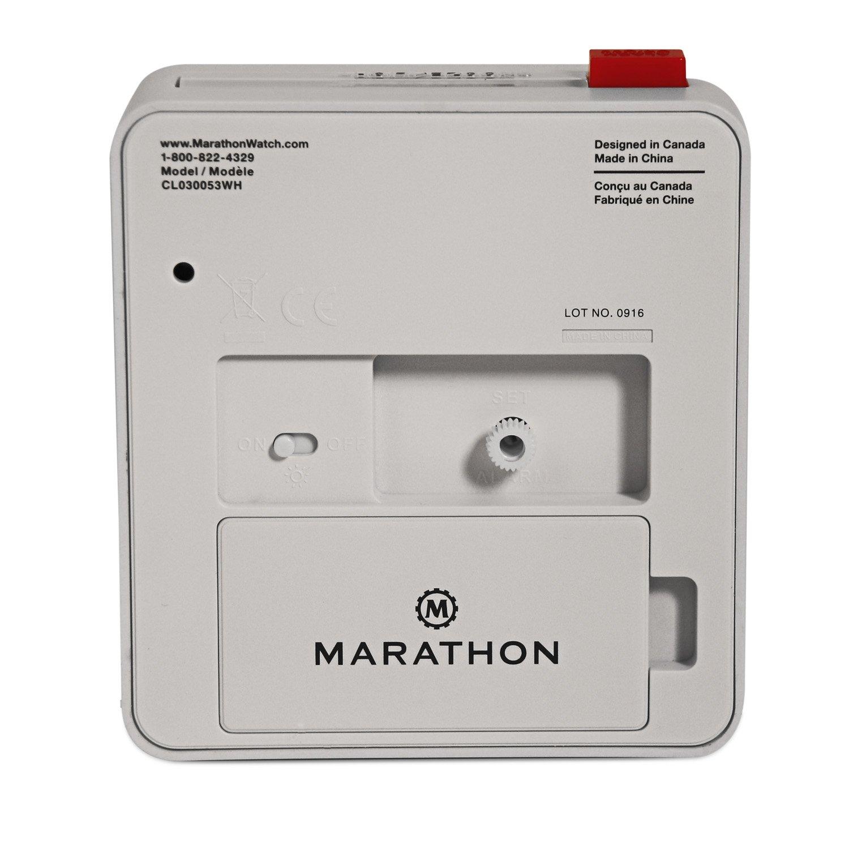 Marathon CL030053WH Bianco Sveglia
