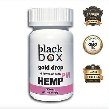 Black Box Hemp - PM Gel Caps w/Melatonin - 500mg Full Spectrum Hemp Oil