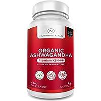 Ashwagandha KSM-66 Vegano orgánico con pimienta negra orgánica