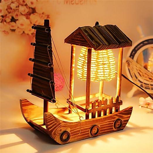 HM Lámpara de Escritorio Moderna Mini Mano básica Tallada lámpara ...