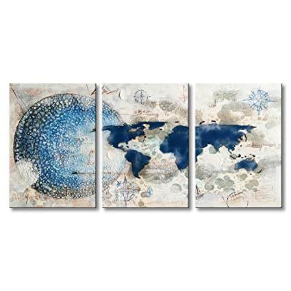 amazon com handmade oil painting on canvas abstract earth artwork