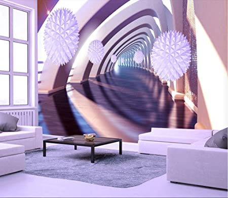 Wall Murals 3d Wallpaper Space Extended Polygon Ball Solid