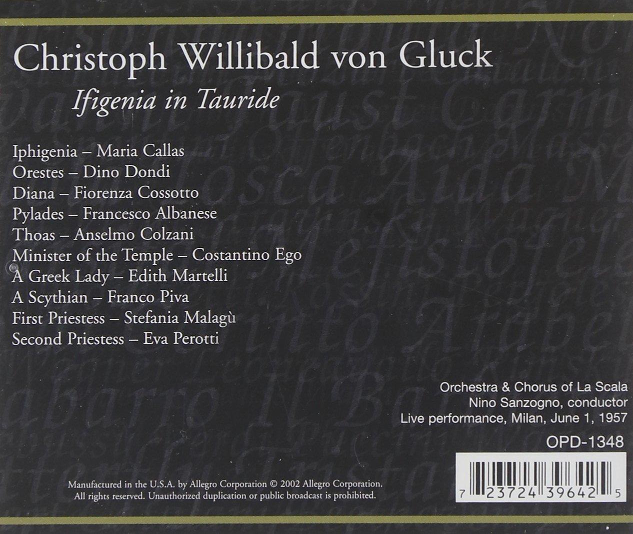 Gluck: Ifigenia En Tauride / Callas 57: Maria Callas, Christoph Wilibald Gluck: Amazon.es: Música