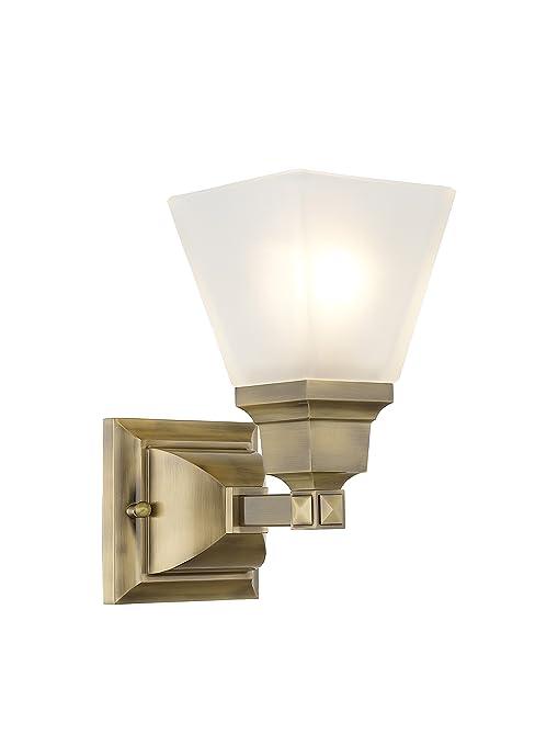 Amazon.com: livex iluminación Misión 1031 – Aplique de pared ...