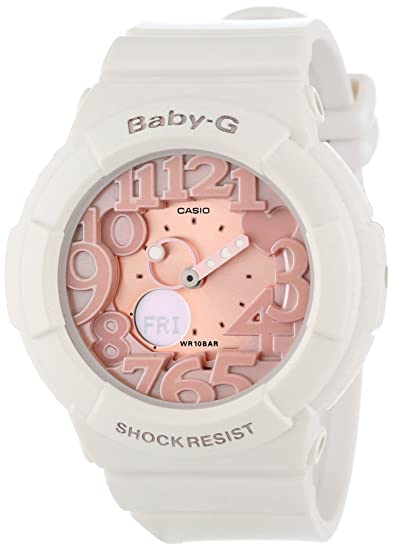 4b5c79d1b5a8f3 Image Unavailable. Image not available for. Colour: Casio Women's  BGA131-7B2 Baby-G Rose Gold and White Resin Digital Watch