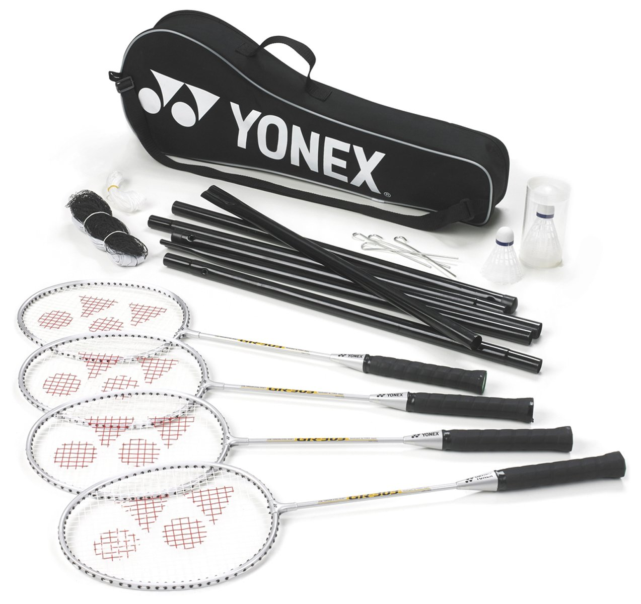 Yonex Badminton Sports 4 Player Set (racket,shuttles,net,post,& Carry Bag) Only by Yonex (Image #1)