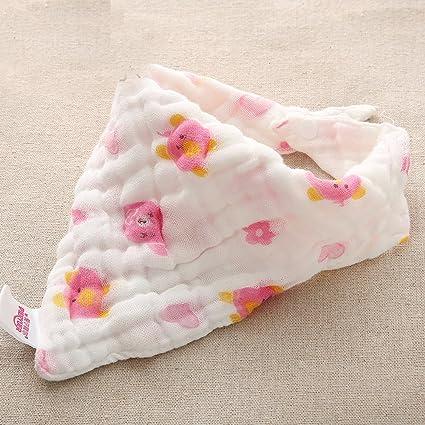 aiyu 3 paquetes bebé toallas de hilo de algodón triángulo babero de 6-layers con