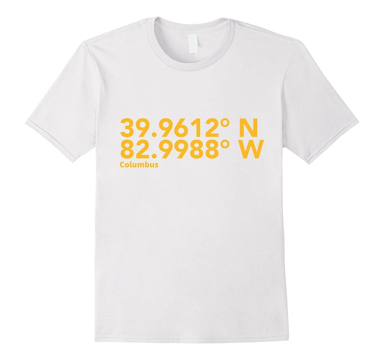 Columbus Ohio Coordinates T-Shirt-RT