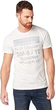 Tom Tailor - Camiseta para hombre blanco crudo XXXL: Amazon.es: Ropa y accesorios