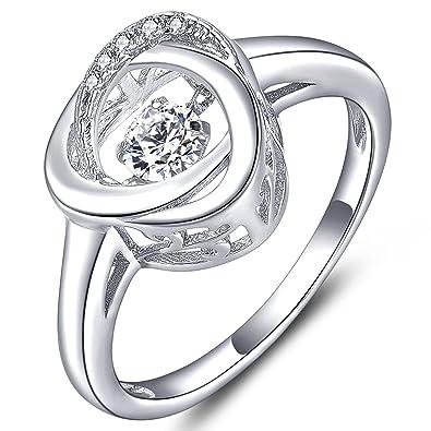 Yl Women S Sterling Silver Dancing Diamond Filigree Love Knot