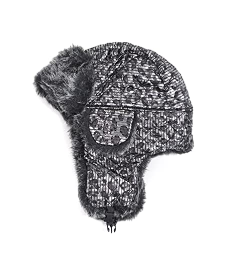 Amazon Curious Pattern Fur Trapper Aviator Hat Bomber Hats