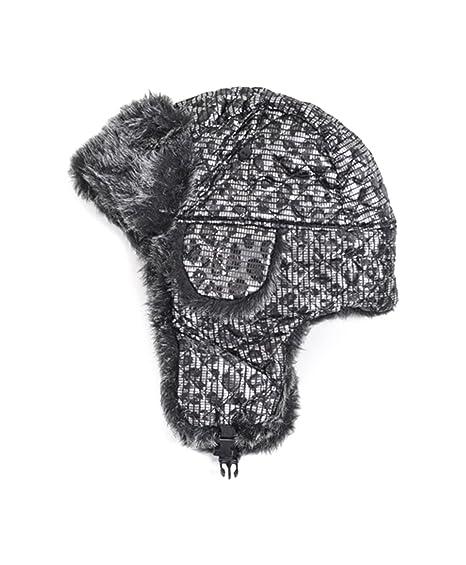 Amazon.com  Curious Pattern Fur Trapper Aviator Hat  Bomber Hats ... 50e26631345