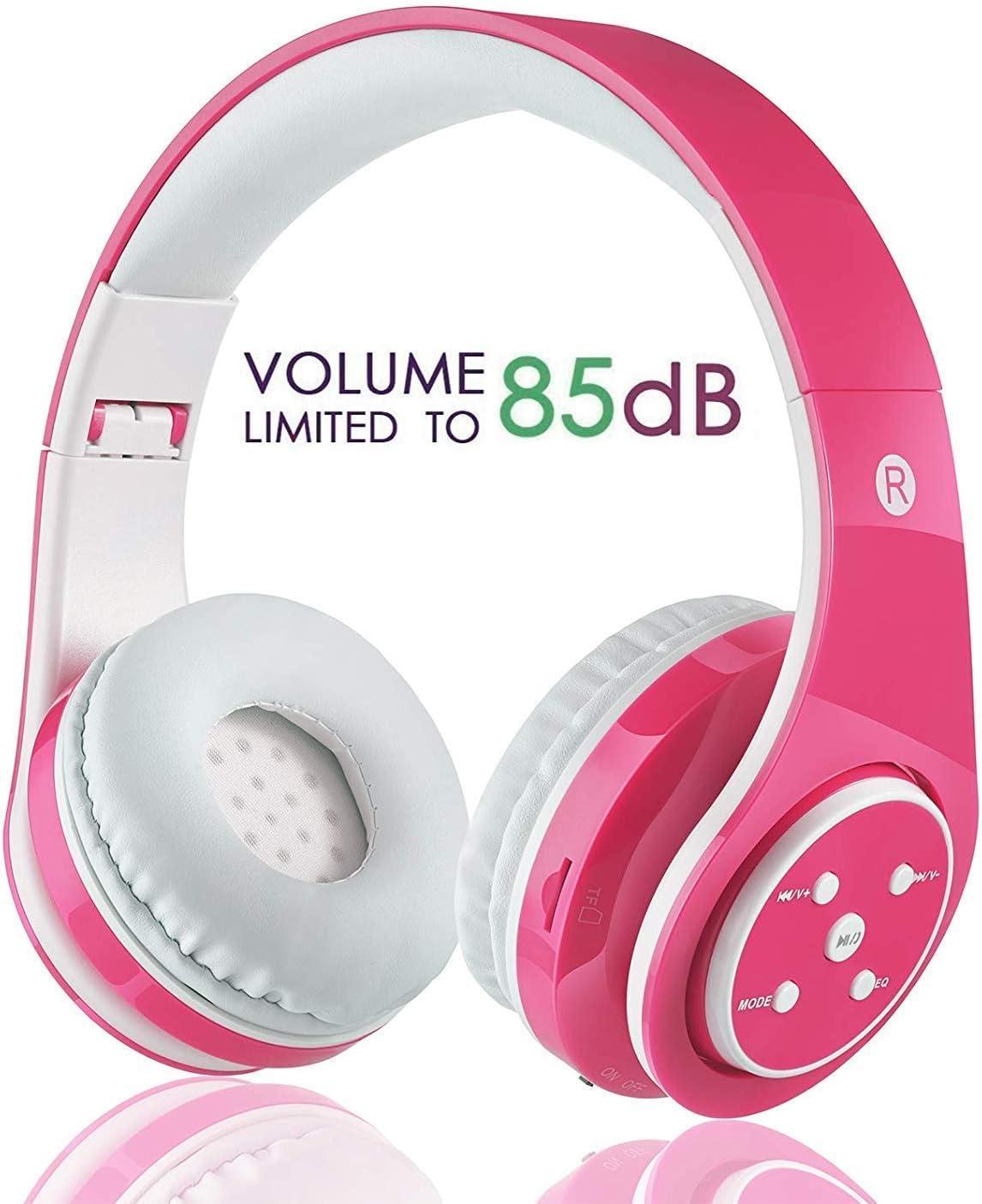 OXENDURE Auriculares Bluetooth inalámbricos incorporados Auriculares Recargables retráctiles para teléfonos Inteligentes con Tableta (Rosado)