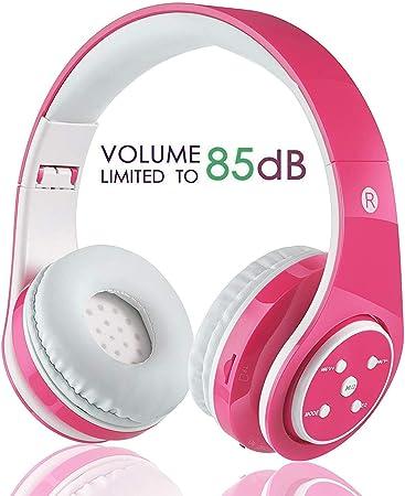 OXENDURE Enfants Casque sans Fil Bluetooth avec Micro Volume Limited Pliable Écouteurs stéréo Enfants on Ear Casque pour PCTVtablettesSmartphones