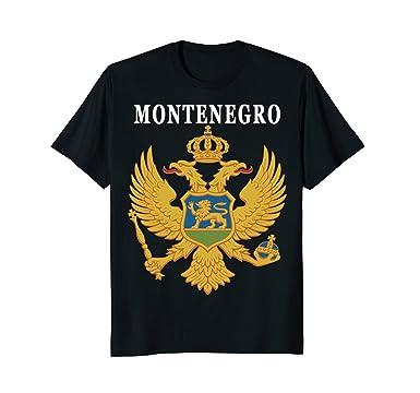 Mens Montenegro National 2 Headed Eagle Coat T Shirt 2XL Black