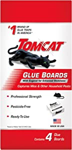 Tomcat Glue Boards with Eugenol for Enhanced Stickiness, 4 Glue Boards