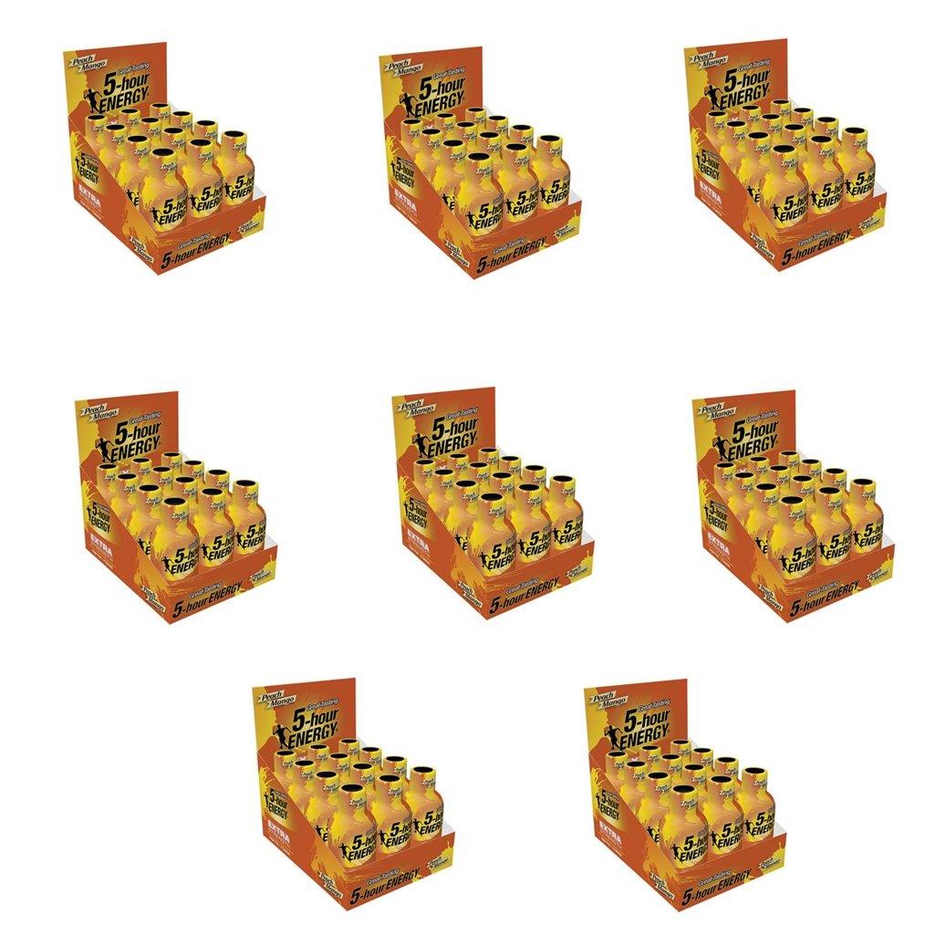 5 Hour Energy Shot Extra Strength Peach Mango- 96 Pack of 2 Ounce Bottles