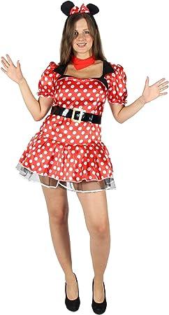 FOXXEO Sexy Disfraz de ratón ratón cómico para señoras con Vestido ...