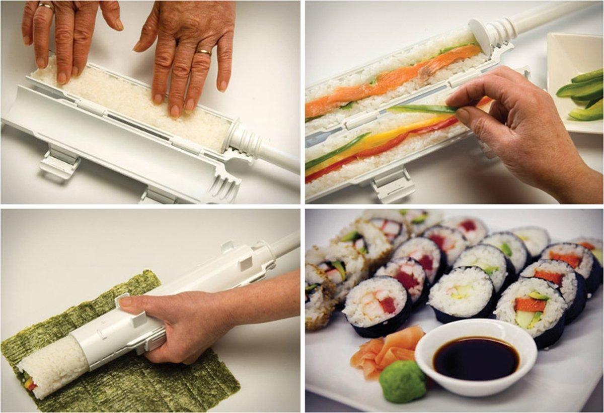 amazon com the sushi bazooka all in 1 sushi making machine