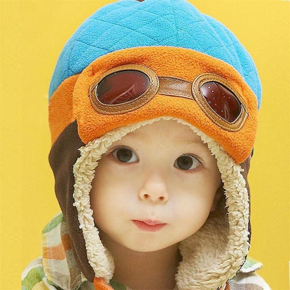 TMEOG Toddlers Cool Baby Boy Girl Kids Infant Winter Pilot Aviator Warm Cap Hat Beanie Earflap Hats 6-36 Months