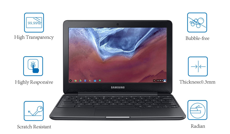 Acer Chromebook CB3-131 Screen Protector Tempered Glass for 11.6 Samsung Chromebook 3 ASUS Chromebook C202SA Dell Chromebook 11 3180 Lenovo Chromebook 11.6 Inch Screen Protector