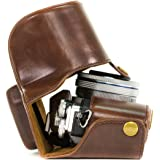 """MegaGear """"Ever Ready"""" Protective Leather Camera Case, Bag for Olympus OM-D E-M10 with 14-42mm"""