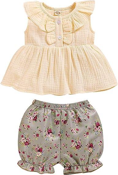 Aisheny Conjunto de Traje de Niña Pequeña para Bebé Camisa ...